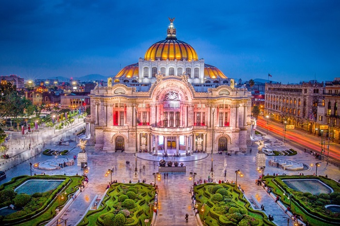 Mexico DF Palacio de Bellas Artes