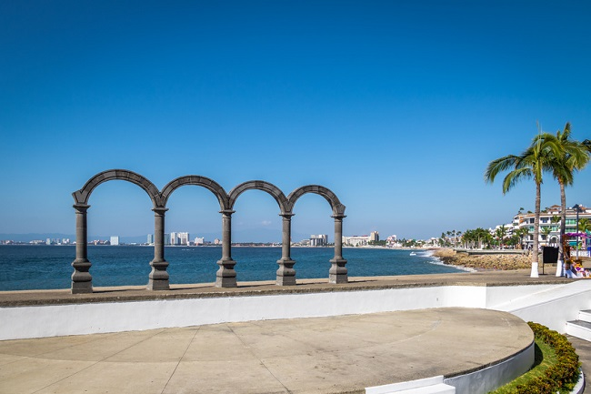 Puerto Vallarta arches on the Malecon